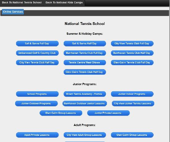 National Tennis School & National Kids Camps